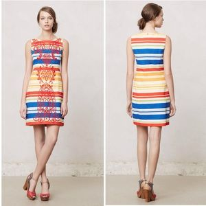 ❤️Anthropologie Banded Totem Shift Dress❤️